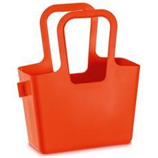 Taschelino Borsa Portatutto In Plastica Rosso Arancio Dimensioni Cm 13 X 32,7 X H 38,6