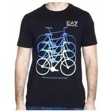 T-shirt Uomo Train City Bike L Nero