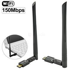 Mini Adattatore Usb 2.0 Ms150n Wifi 150 Mbps Antenna Chiavetta Wireless Wi Fi 6dbi 150m Per Pc Laptop Ricevitore