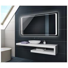 Controluce Led Specchio 120x50cm Su Misura Illuminazione Sala Da Bagno L61