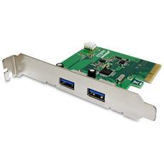 USB 3.1 Superspeed+ 2x Type-A Interno USB 3.1 scheda di interfaccia e adattatore