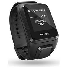 Spark Cardio + Music Large impermeabile Cardiofrequenzimetro 3GB Bluetooth Rilevamento dell'attività - Nero