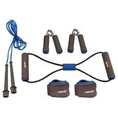 41ve Set Fitness Grigio / blu Cobalto / nero