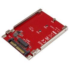 Adattatore Host per Drive M. 2 a U. 2 (SFF-8639) PCIe NVMe SSD
