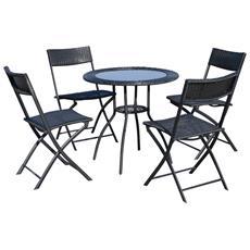 Tavolo Resina Pieghevole Con Struttura Metallo.Set Tavoli Da Giardino Con Sedie Prezzi E Offerte Eprice