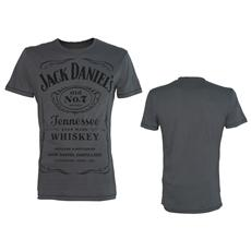 Jack Daniel's - Grey Classic Black Logo (T-Shirt Unisex Tg. S)