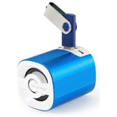 Speaker Audio Portatile MusicMan Grenade BT-X4 Potenza Totale 3W Bluetooth Colore Blu