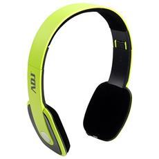 Cuffie con Microfono Bluetooth Colore Lime