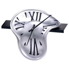 Orologio da tavolo ''Orologio mensola'' in resina decorata a mano Meccanismo al quarzo tedesco UTS Dimensione cm 30x28x16 Colore alluminio raggio