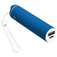 Stilo Powerstick Caricabatterie portatile con porta USB e batteria integrata da 2600 mAh - Blu