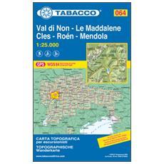 Val di Non - Le Maddalene - Cles - Roén - Mendola 1:25.000