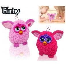 Morbido Pupazzo Colorato Furby Simpatico Cucciolo Di Peluche Dal Cuore Tenero 14 Cm - Rosa
