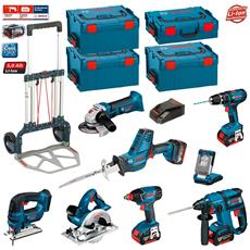 Kit Psl8p4a + Caddy (gst 18 V-li + Gks 18 V-li + Gdx 18 V-li + Gbh 18 V-ec + Gsa 18 V-li C + Gli Variled + Gsb 18-2-li Plus + Gws 18 V-li + 2 X 5,0 Ah + Gal1880cv + 3 X L-boxx 238 + 1 X L-boxx 136 + Caddy)