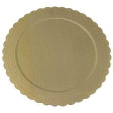 Sottotorta Oro 34cm Rotondo In Carta 1 Pz