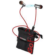 TESPORTINEARBTPROK Auricolare Stereofonico Bluetooth Nero, Rosso auricolare per telefono cellulare