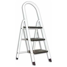 Sgabello scala scaletta in Alluminio Verniciato Mast 3 Gradini Altezza 0,73 mt