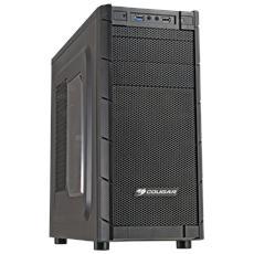 Case Archon Middle Tower ATX, Micro-ATX Colore Nero Finestrato