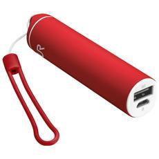 Stilo Powerstick Caricabatterie portatile con porta USB e batteria integrata da 2600 mAh - Rosso