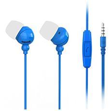 Auricolari con Microfono Colore Blu