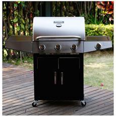 Barbecue A Gas Party 4 - 4 Fornelli Di Cui 1 Laterale - 13.7kw
