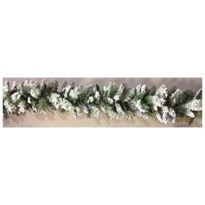 Ghirlanda Innevata H270cm Ø30cm Alaska Natale Addobbi Decorazioni