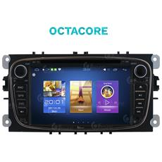 Autoradio Ford Black Smax Kuga Mondeo Android 7.1.1 Usb Octacore Gps Jfsound Mirror Link Airplay