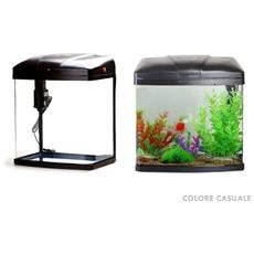 Acquario 20 Litri T28f Con Sistema Di Filtraggio E Illuminazione 31.5x22x37.5 Cm Pesci Pesce Tropicali Acqua Salata