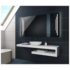 Controluce Led Specchio 90x50cm Su Misura Illuminazione Sala Da Bagno L27