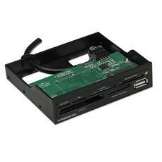 """IUSB-CARD-521B Lettore di Schede Interno 3.5"""" USB 2.0 Nero"""