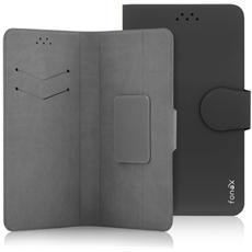 """Classic Detachable Custodia Universale a Libro per Dispositivi fino a 4.5"""" Colore Nero"""