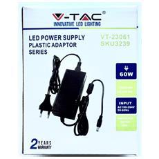 Alimentatore V-tac Vt-23061 5a Trasformatore Desktop 220 Vac 12 Vdc 60 W 5 A Con Plug