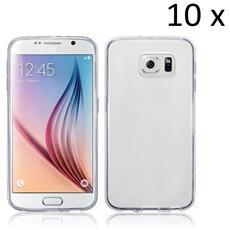 10 X Custodia Cover In Silicone Super Sottile Trasparente Per Samsung Galaxy S6