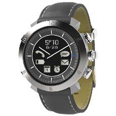 Smartwatch Classic in Pelle Impermeabile Bluetooth per Android e iOS Grigio - Italia
