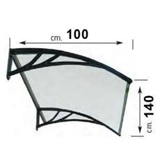 Pensilina in resina trasparente 100 x 150 cm