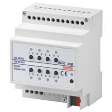 Attuatore Per Comando Motore Per Tapparelle Da Guida Din - Knx - 230v - 6a - Ip20 - 4 Canali - 4 Moduli Din