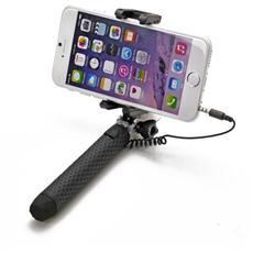 """Mini Selfie Stick compatibile con smartphone fino a 5.5"""" per una lunghezza massima di 70cm - Nero"""