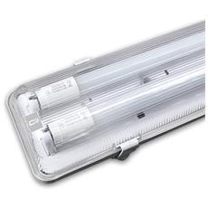 Plafoniera Per 2 Tubi Led Neon T8 Da 120cm