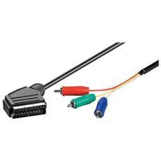 52305, 1m, SCART (21-pin) , 3 x RCA, Bolla
