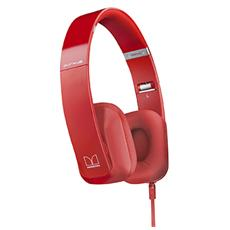 cuffie stereo filo monster rossa