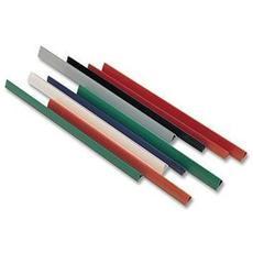 Binding Bar Lebez - 297 mm Lunghezza - A4 210 mm x 297 mm - Cloruro di polivinile (PVC) - 50 / Pacco - Nero