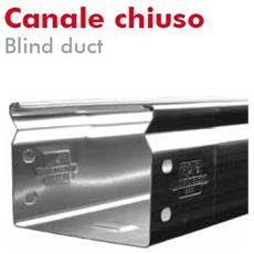 Canale Chiuso 50x50mm L= 2m Sendzimir