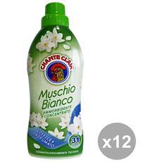 Set 12 Ammorbidente Concentrato 625 Ml. Muschio Bianco Detergent