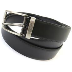 cintura in pelle '' nero - 110 cm 30 mm - [ n5597]