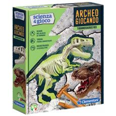 Archeogiocando T-rex Luminoso Al Buio, Made In Italy, Dinosauro, Gioco Scientifico Per Bambini Dai 6 Anni, Laboratorio Di Scienza, Italiano, Multicolore, 19165