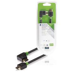 KNV34260E20, HDMI, HDMI, Maschio, Maschio, Dritto, Ad angolo