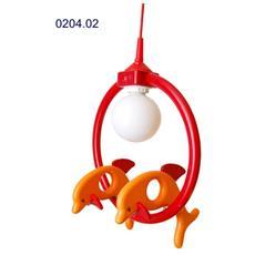 0204.02 Lampadario sospensione Delfin cameretta bambini 24cm x 32cm x max 85cm (regolabile)