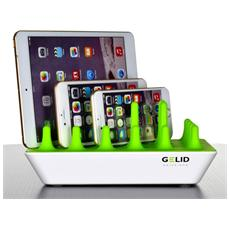 I-CHARGE-ZENTREE - Docking Station 4 Porte USB Ricarica Smartphone e Tablet Zentree