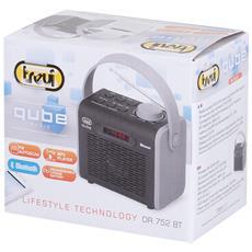 Radio Qube Con Bluetooth, Usb E Mp3 Trevi Dr 752 Bt Nero