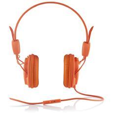 MC-400 FRUITY Padiglione auricolare Stereofonico Cablato Arancione auricolare per telefono cellulare