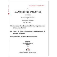 I manoscritti palatini